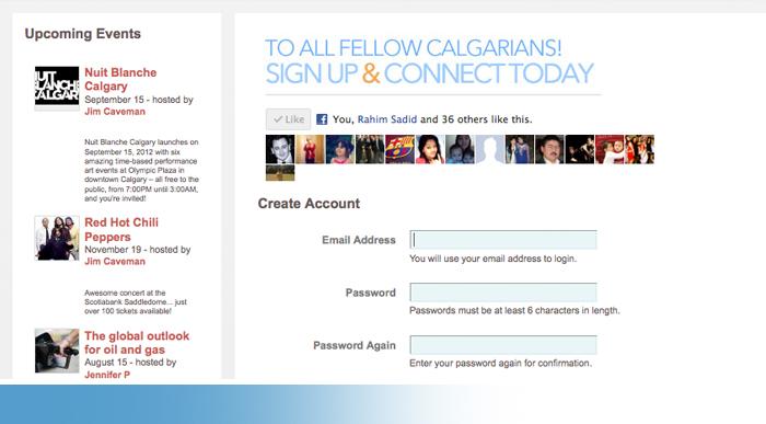 Calgarian Social Network
